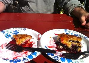 Luke's was raspberry rhubarb and mine was boysenberry
