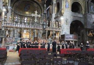 rehearsal in San Marco's Basilica
