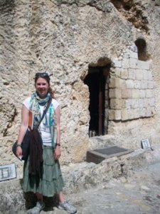 Me at the Garden Tomb in Jerusalem