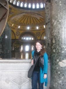 Me inside the Hagia Sofia in Istanbul
