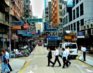 Hong Kong's busy streets