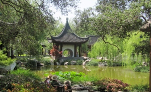 Chinese garden Huntington Library this past May