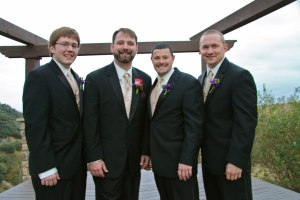 The best man is married and my brother and the other groomsmen are both engaged